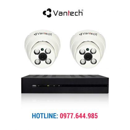 Trọn bộ 2 camera Vantech 1.0 HDTVI chính hãng giá tốt