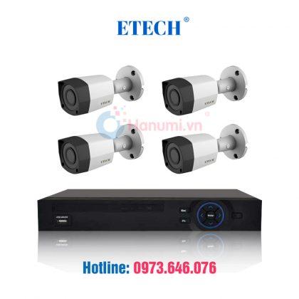 Trọn bộ 4 camera Etech HDCVI chính hãng chỉ có tại hanumi.vn