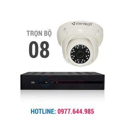 Trọn bộ 08 camera Dome 2.0 vantech chính hãng giá tốt nhất thị trường