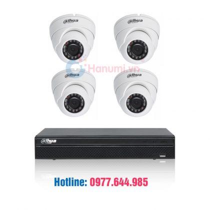 Trọn bộ 04 camera HDCVI Dahua 2.0MP chính hãng giá tốt