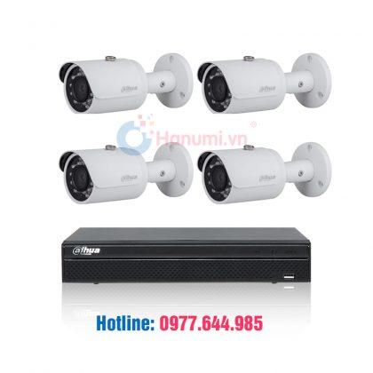 Trọn bộ 04 camera Dahua 2.0MP giá tốt tại hanumi.vn