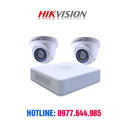 TRọn bộ 2 camera hikvision chính hãng giá chỉ 4250k