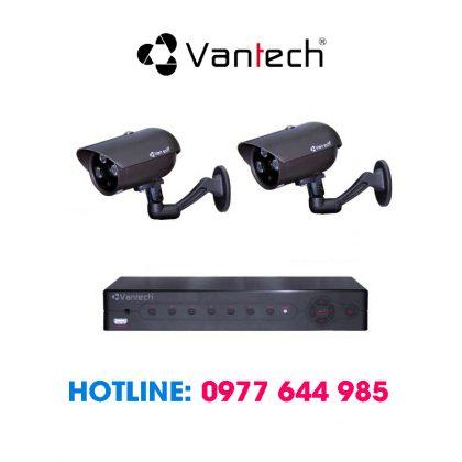 Trọn bộ 2 camera vantech lắp ngoài trời giá rẻ