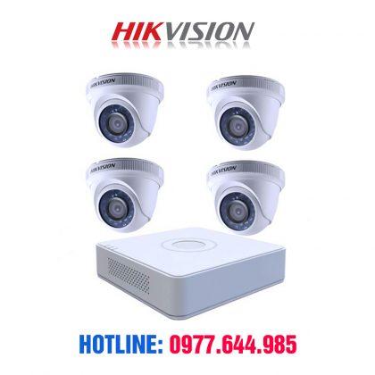 Trọn bộ 4 camera hikvision chính hãng giá chỉ 6tr5