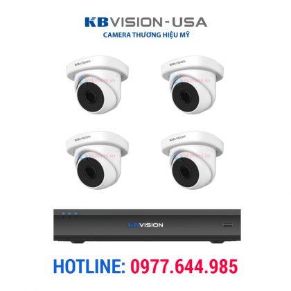 Trọn bộ 4 Camera AHD KBVISION KB-V2002A