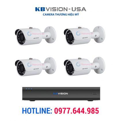 Trọn bộ 4 camera ip 3.0 kbvision chính hãng
