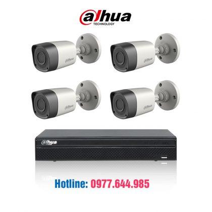 Trọn bộ 04 cammera Dahua 1.0mp HDCVI